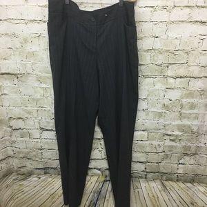 Lane Bryant Gray Blue Pin Striped Dress Pants